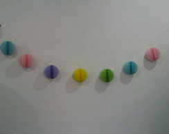 Kit decoracao rapida globos varal de bolas garland honeycomb