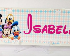 PLACA DE CARRO - BABY DISNEY