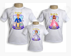 Kit Camisetas Princesinha Sofia