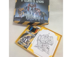 Kit colorir transformers