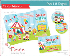 Mini Kit Digital Circo Azul