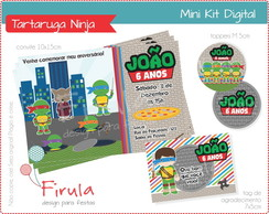 Mini Kit Digital Tartarugas Ninja