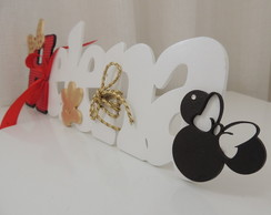 Letras Decoradas Mesa Festas Minnie