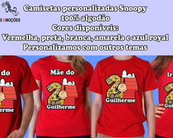 Kit camisetas Snoopy