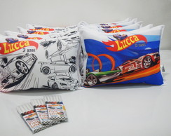 Almofada Dupla Face Hot Wheels