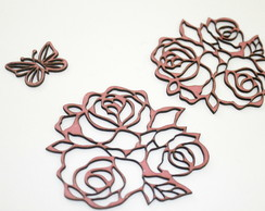Chipboard - KIT Rosas