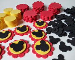 Kit Para 50 Apliques Do Mickey Mouse