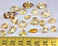 79cts 20pcs Citrino Gotas, 10-20 mm