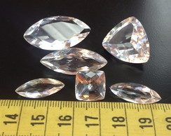 66cts 6 Pcs Cristal natural, 12-30 mm