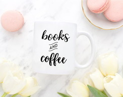 Caneca books and coffee