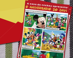 Convite Digital Gibi Turna do Mickey