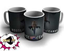 Caneca Branca House of Cards