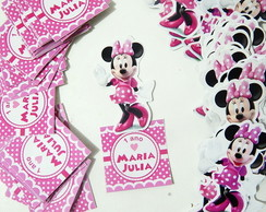 Tag 3D Tubete Minnie Rosa