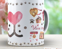 Linda Caneca I Love My Dog - 1462