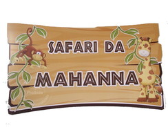 Festa Safari - Placa