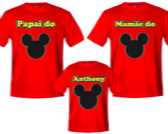 Camisetas para aniversario do Mickey