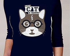 CAMISETA FEMININA 3/4 - CAT POTTER