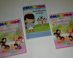Kit de colorir princesas cute 10 X 15