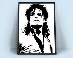 Quadro Michael Jackson - Rei Do Pop