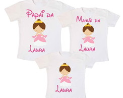 Kit 3 Camiseta Princesa