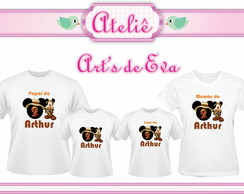Kit Camiseta Mickey Mouse Safari