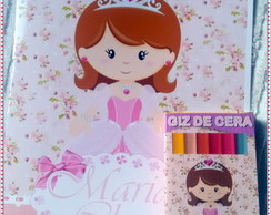 Revista Colorir princesa com giz