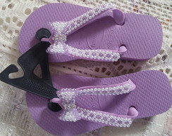 Havaiana Top bordada
