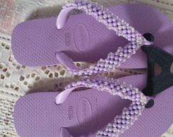 Havaiana top bordado