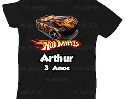 Camiseta Hot wheels Aniversario Carros infantil