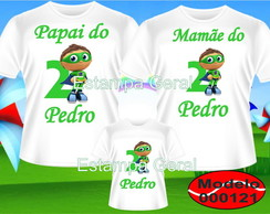 Kit camisetas Super Why personalizadas