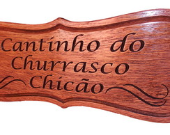 Placa Cantinho do Churrasco - modelo I