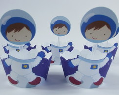 Mini Wrapper com topper Astronauta