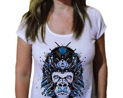 Camiseta Feminina macaco hightech