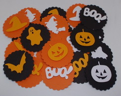 Topper ou tag Festa Halloween kit 24 un