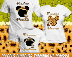 3 Camisetas Mickey Minnie Safári Anivers