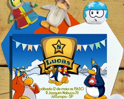 Convite CLUB PENGUIN (Digital)