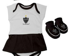Body Vestido Time Atlético - Kit 3 pçs