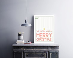 "Placa decorativa ""We Wish You a Merry"""