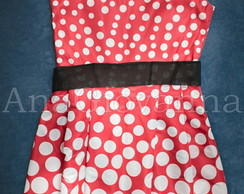 Vestido Adulto da Minnie