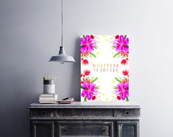 "Placa decorativa ""Whatever Is Lovely"""