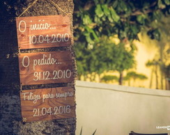 PLACAS WEDDING