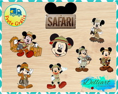 Aplique - Mickey Safari 3cm