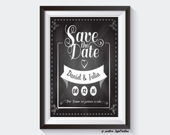 Chalkboard Digital Save the Date