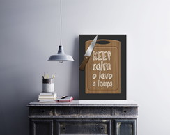 "Placa decorativa ""Keep Calm e Lave"""