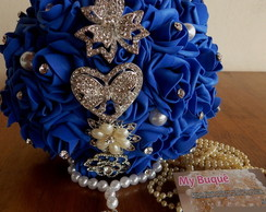 Buquê de broches Azul Royal