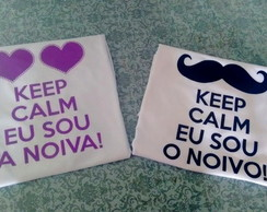 Kit 2 Camiseta dos Noivos Keep Calm