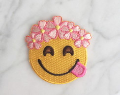 Emotion com flores Patch