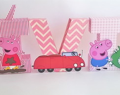 Letra decorativa 3D - Peppa Pig