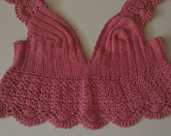 Cropped bordados rosa