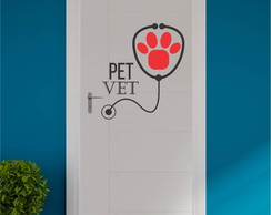 Adesivo veterinaria pet shop animal deco